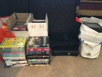 JOB LOT - Xbox 360 with controller, Playstation 2 , 100's of dvds, games and CDs