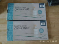 Glass shelfs x2