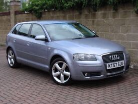 FINANCE AVAILABLE!!! 2007 AUDI A3 2.0 TDI SPORT 5dr, 6 SPEED, FSH, 1 YEAR MOT, 2 FORMER KEEPERS