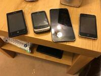 Joblot of phones spares or repairs Nokia and iPod left