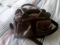 Changing bag Lin and Leo genuine leather