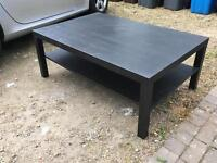 Black/Brown LACK Coffee Table