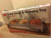 Suffer server and warming tray