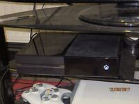 xbox one bundle (500gb black console, controllers, kinetic, games and mic/headset adapter