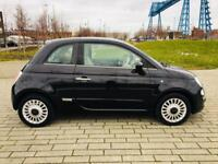 FIAT 500 1.2 LOUNGE 3d 69 BHP PANORAMIC ROOF LOW RATE FINANCE !!! (black) 2010