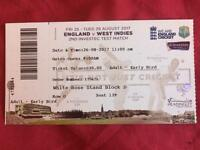 England v West Indies - Day 2 at Headingley - Cricket Ticket