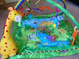 Rainforest melodies lights &musical baby play mat / gym - excellent condition