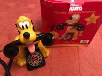 DISNEY'S PLUTO TALKING ANIMATED WORKING LANDLINE TELEPHONE