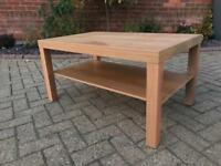 Ikea Lack Television Table with Oak Veneer 90 x 55 x 45cm