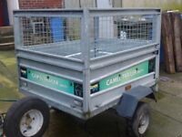 4x3 trailer with cage sides