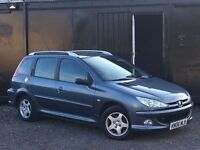 ★ 2006 PEUGEOT 206 SW + ESTATE + 11 MONTHS M.O.T ★NEW CLUTCH FITTED++