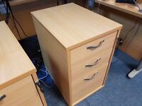 Office drawers, loackable, hardly used - 3 available