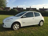 09 RENAULT CLIO 1.2 3DR*EXTREME*LOW INS GROUP 2E*WHITE*79K*MINT!BARGAIN!corsa,207,ford,c3