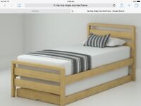 WOODEN SINGLE BED PLUS ADDITIONAL BED