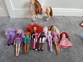 Barbie horse and dolls