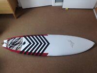 "Surfboard - Rusty Piranha 6'2"" with fins"