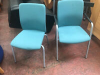Green Fabric High Back High Quality Conference Chairs with Arms