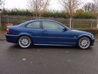 BMW 325CI M SPORT AUTO BLUE LOW MILEAGE 84K 12 MONTHS MOT DRIVES GREAT
