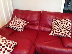 Italian leather sofa 3 seater & 2 seater