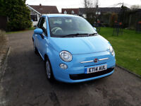 2014 FIAT 500 1.2 LOW MILES FSH EXCELLENT CONDITION GREAT COLOUR £30 A YEAR ROAD TAX