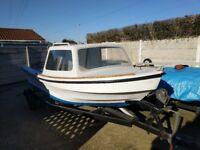 15ft GRP Cabin Boat