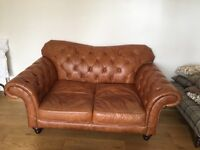 Beautiful 3 seater and 2 seater Chesterfield sofas. Need gone on Tuesday 2nd May