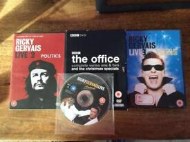 Ricky Gervais Animals, Fame, Politics and The Office Complete Boxset