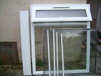 White internally glazed uPVC window