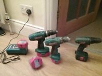 Makita charger and drills