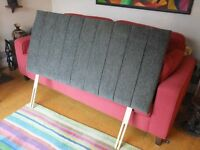 Double Bed Headboard Charcoal Chenille