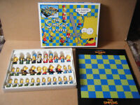 """THE SIMPSONS, 3-D CHESS SET"". Excellent condition and complete."