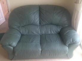 Leather sofa- 2 & 3 seater
