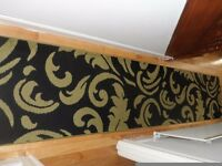 Hall carpet runner black&green Size 320cm x 70cm