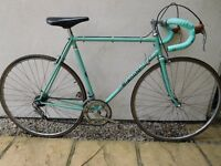 Classic Italian Celeste Green Bianchi Sprint race bike