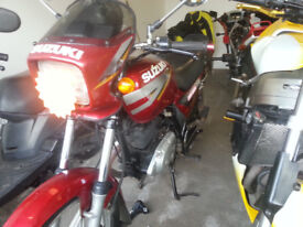 motorbike up to 125 wanted