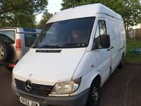 Mercedes sprinter 208cdi high top roof mwb parts available breaking