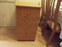 2 Drawer filing cabinet. Very good condition.