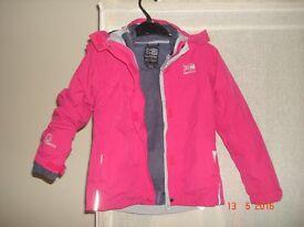 Girls pink Karrimor coat size 4-5 years. £8 obo