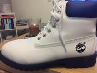 White and Black Mans size 11 Timberlands