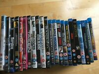 11 blue rays 11 dvds £10.00