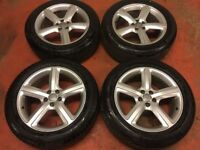 19'' GENUINE AUDI Q5 S LINE 5 SPOKE ALLOYS WHEELS ALLOY TYRES 5X112 4X4