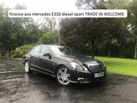finance ava 2010 mercedes E350 diesel sport trade in welcome