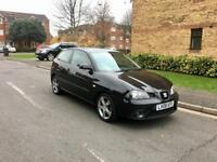 2008 SEAT IBIZA 1.4 SPORT – Petrol, Manual, Black, Long MOT, FSH, 3 Doors, Alloys, Cheap Insurance