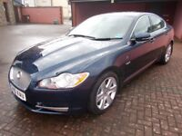 Jaguar XF Luxury Saloon Blue Cream Leather Climate Cruise Sat Nav Reverse Camera and Sensors