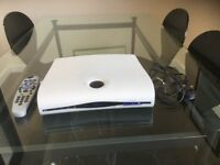 Sky viewing box with complimentary remote control and power cord