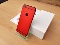 Apple iPhone 6 16GB RED & BLACK (Unlocked) Smartphone GREATE CONDITION MUST SEE!