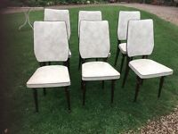 RETRO VINTAGE .6 FRENCH DINING CHAIRS