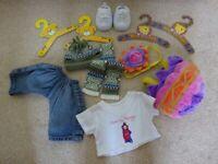 Build a bear / Bear Factory clothes Po T-shirt Jeans Easter Egg Trainers Bundle