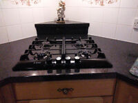BOSCH GAS HOB, ONLY 2 YEARS OLD. COLOUR BLACK