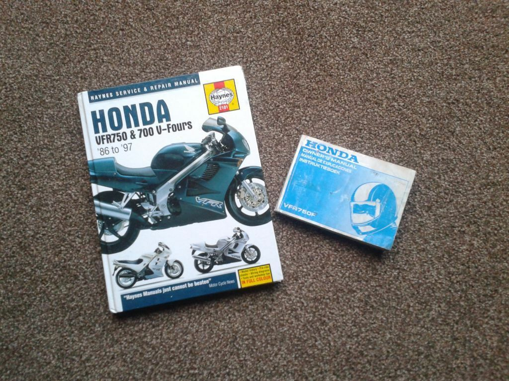Honda VFR750 Haynes Manual and Original Owners Manual.